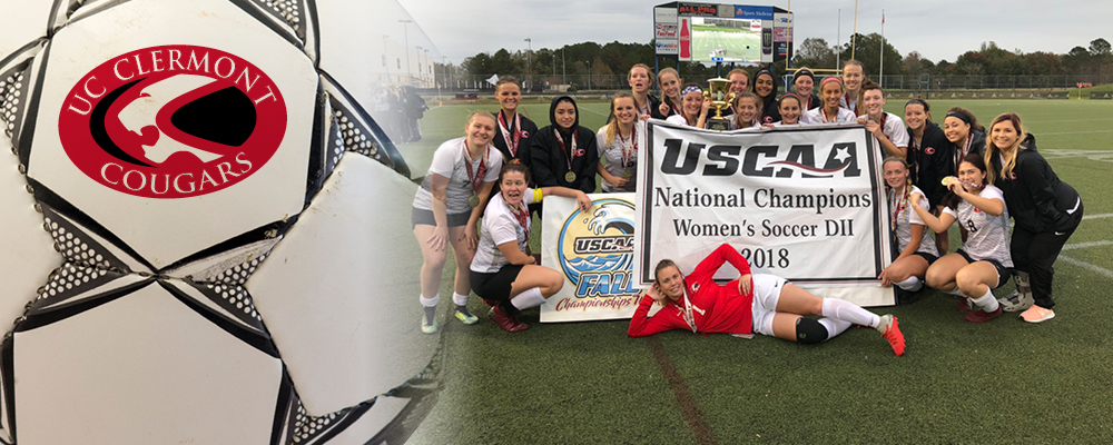 Women's Soccer Team Wins National Championship. The UC Clermont Cougars take the program's first USCAA title.